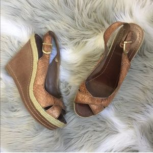 Vince Camuto Sedona Leather Wedges